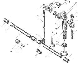 Клапаны и толкатели ЯМЗ 236 НЕ2