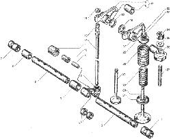 Клапаны и толкатели ЯМЗ 236 БЕ2