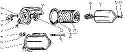 ЯМЗ 238 М Фильтр тонкой очистки топлива