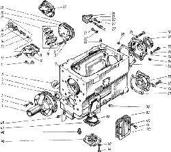 ЯМЗ 238 М Картер и масляный насос коробки передач