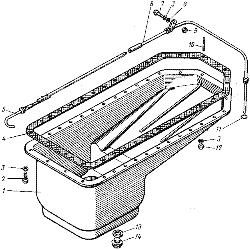 ЯМЗ 7601.10 Система охлаждения поршней маслом