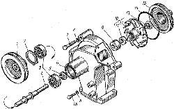 ЯМЗ 7601.10 Устройство натяжное ремня привода водяного насоса