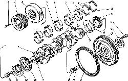 Коленчатый вал и маховик ЯМЗ 8421.10