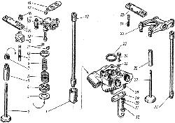 Клапаны и толкатели ЯМЗ 8421.10