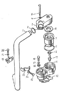 ЯМЗ 8424.10 Радиатор водомасляный и краник сливной