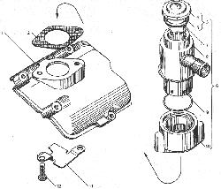 ЯМЗ 238БЕ Вентиляция картера двигателя с индивидуальными головками цилиндра