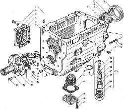 ЯМЗ 238БЕ Картер коробки передач ЯМЗ 238ВМ5, ЯМЗ 238ВМ7, ЯМЗ 238ВК7