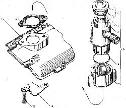 ЯМЗ 238БЕ2 Вентиляция картера двигателя с индивидуальными головками цилиндров