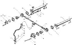 ЯМЗ 238БЕ2 Водяные трубы и термостаты системы охлаждения