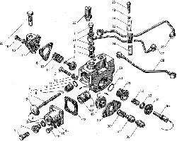 ЯМЗ 238БЕ2 Управление механизмом переключения демультипликатора