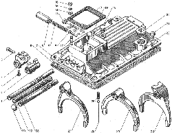 ЯМЗ 238ДЕ-11 Механизм переключения коробок передач  ЯМЗ 239, ЯМЗ 2391