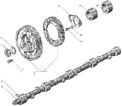 Вал распределительный ЯМЗ 238ДЕ-11