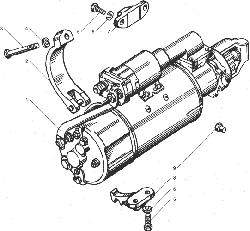 Генератор в сборе, его крепление и привод ЯМЗ 238ДЕ-11