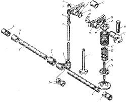 Клапаны и толкатели ЯМЗ 238 АМ