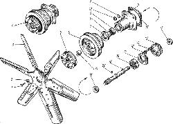 ЯМЗ 238 НД Вентилятор