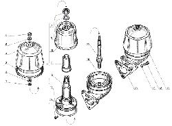 Фильтр центробежной очистки масла ЯМЗ 238 Б