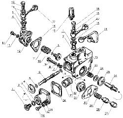 ЯМЗ 238 Б Управление механизмом переключения понижающей пере
