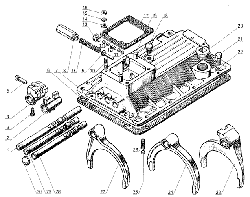 ЯМЗ 238 Б Механизмы переключения передач ЯМЗ 238М4 и ЯМЗ 238К4