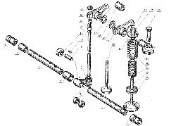 Клапаны и толкатели ЯМЗ 238 Б