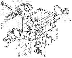 ЯМЗ 238 Д Картер и масляный насос коробки передач ЯМЗ 238А  и ЯМЗ 238Б