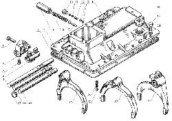 ЯМЗ 238 Д Механизмы переключения передач  ЯМЗ 238А и ЯМЗ 238Б