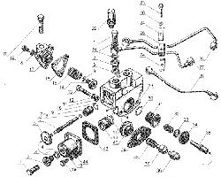 ЯМЗ 238 Д Управление механизмом переключения демультипликато