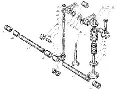 ЯМЗ 238 Д Клапаны и толкатели