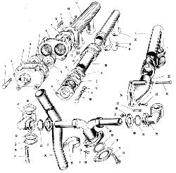ЯМЗ 240 М2 Трубопровод системы охлаждения