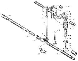 Клапаны и толкатели ЯМЗ 240 М2